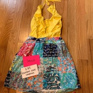 Lilly Pulitzer EUC Halter Dress Size Small